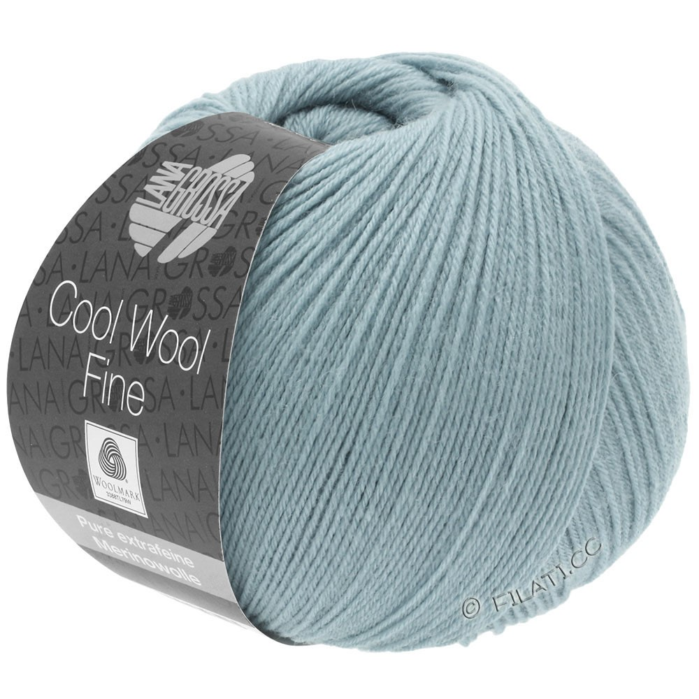 Lana Grossa COOL WOOL Fine | 11-gray blue