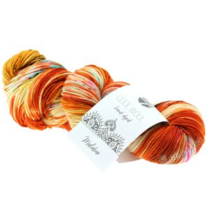 Lana Grossa COOL WOOL  Hand-dyed | 101-rust/orange/raw white/yellow/pink/green