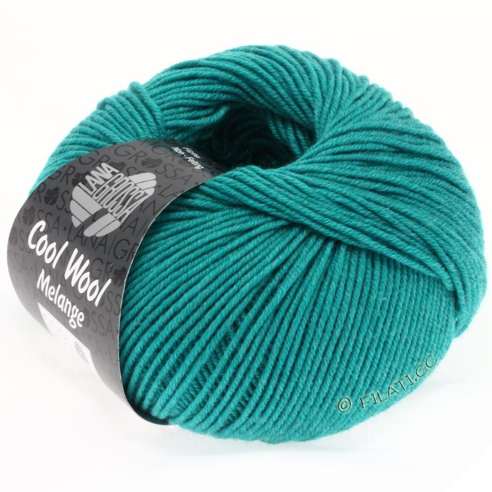 Lana Grossa COOL WOOL   Uni/Melange/Neon | 0110-turquoise/petrol mottled