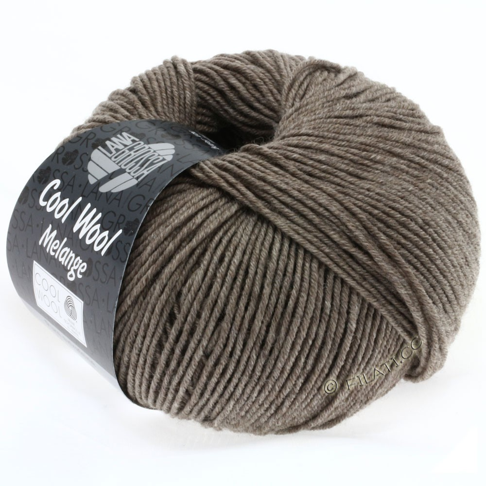 Lana Grossa COOL WOOL   Uni/Melange/Neon | 0115-gray brown mottled