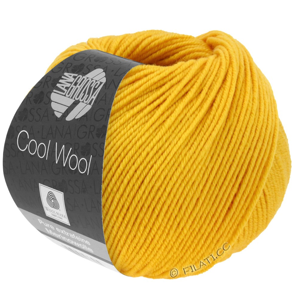 Lana Grossa COOL WOOL  Uni/Melange/Print/Degradé/Neon | 2005-golden yellow