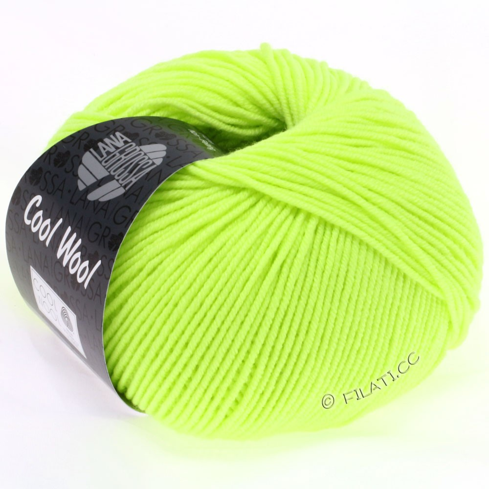 Lana Grossa COOL WOOL  Uni/Melange/Print/Degradé/Neon | 2009-neon green