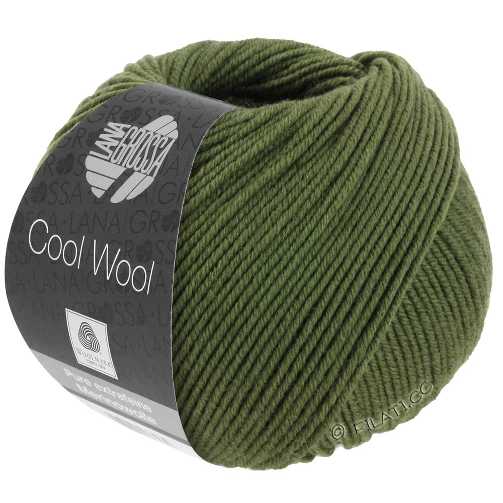 Lana Grossa COOL WOOL  Uni/Melange/Print/Degradé/Neon | 2042-dark olive