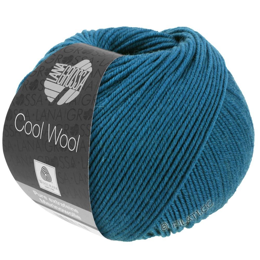 Lana Grossa COOL WOOL   Uni/Melange/Neon | 2049-blue petrol