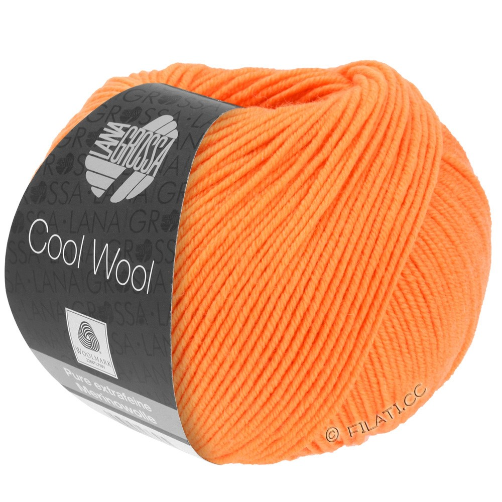 Lana Grossa COOL WOOL   Uni/Melange/Neon | 0418-mandarin
