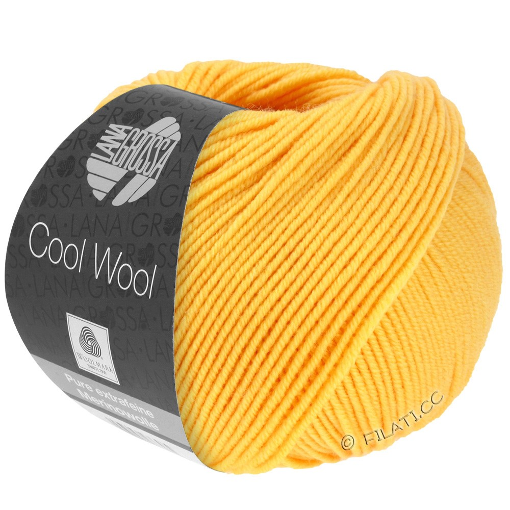 Lana Grossa COOL WOOL  Uni/Melange/Print/Degradé/Neon | 0419-yellow