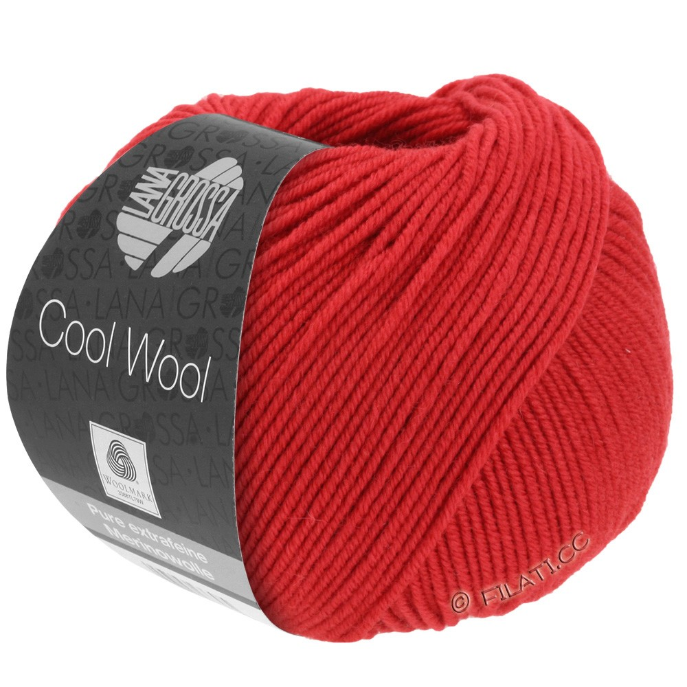 Lana Grossa COOL WOOL  Uni/Melange/Print/Degradé/Neon | 0437-carmine red