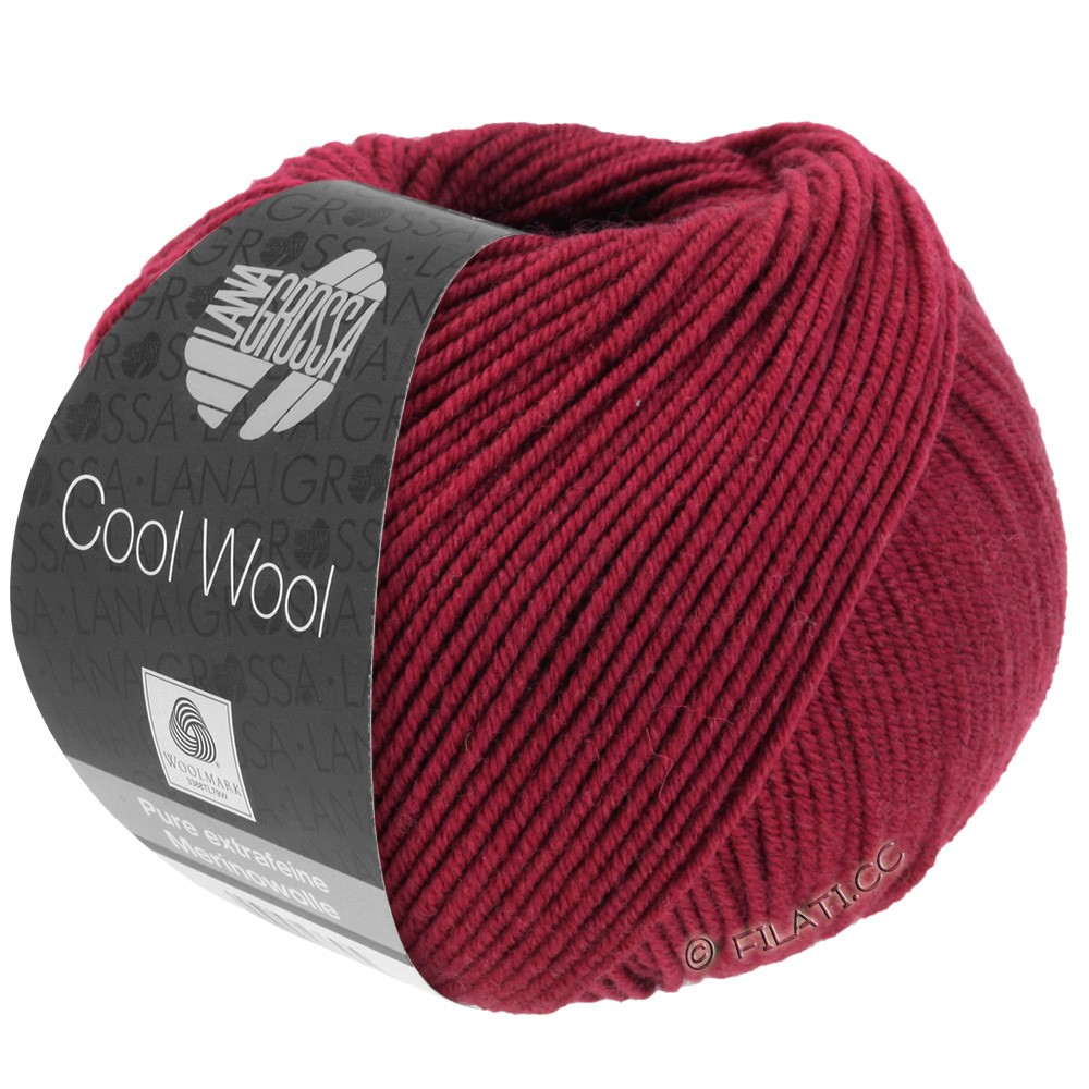 Lana Grossa COOL WOOL  Uni/Melange/Print/Degradé/Neon | 0468-wine red