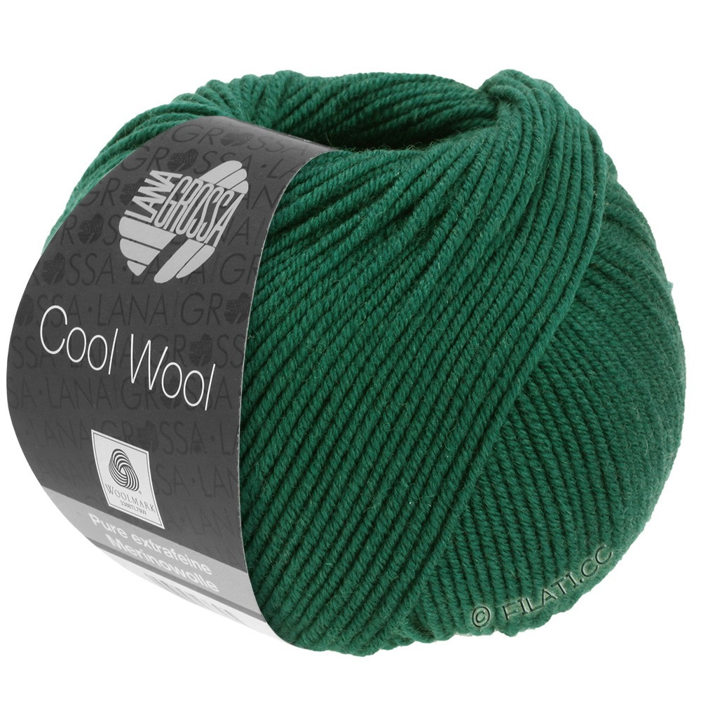 Lana Grossa COOL WOOL  Uni/Melange/Print/Degradé/Neon | 0501-bottle green