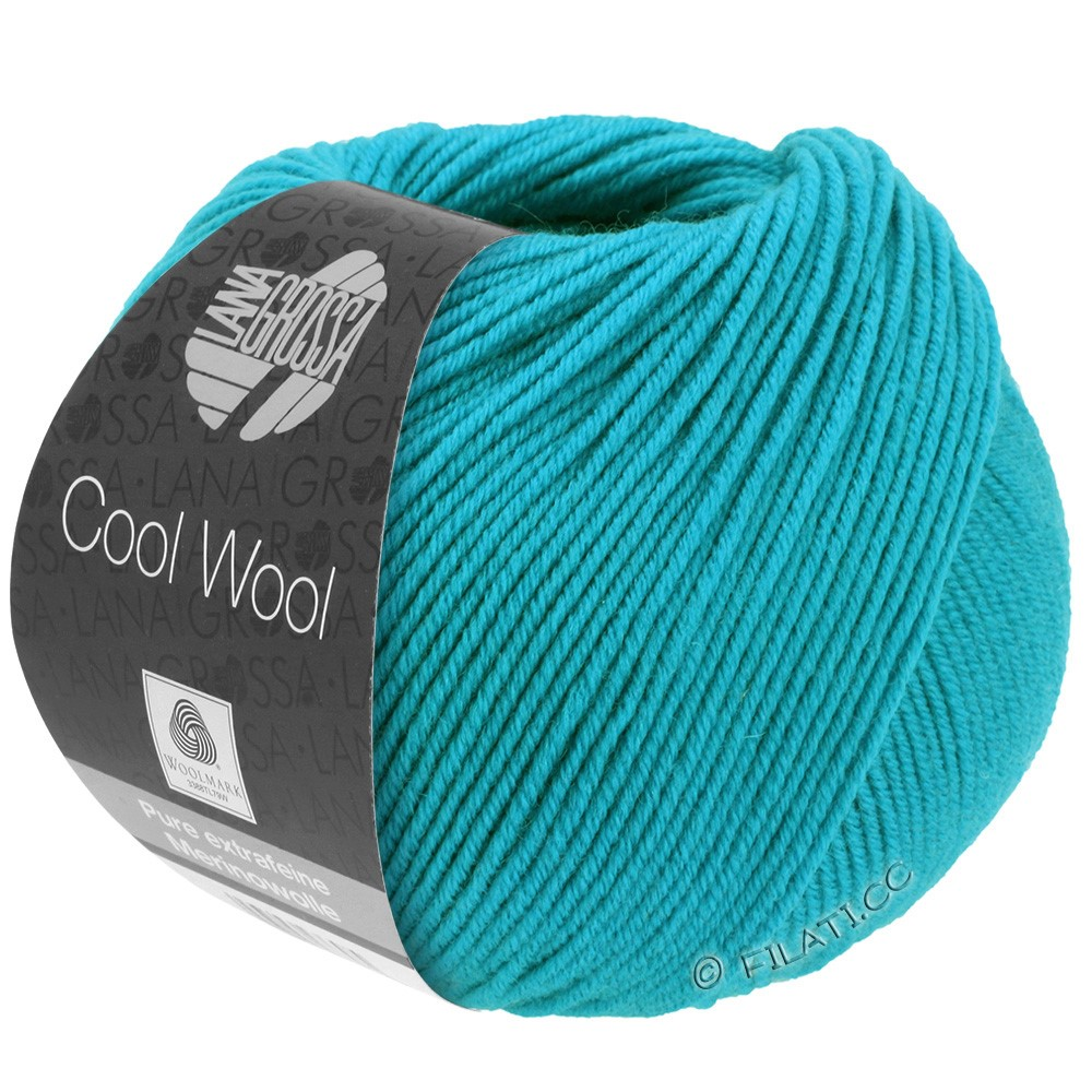 Lana Grossa COOL WOOL  Uni/Melange/Print/Degradé/Neon | 0502-turquoise blue