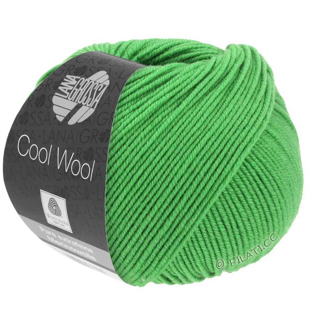 Lana Grossa COOL WOOL  Uni/Melange/Print/Degradé/Neon | 0504-apple green