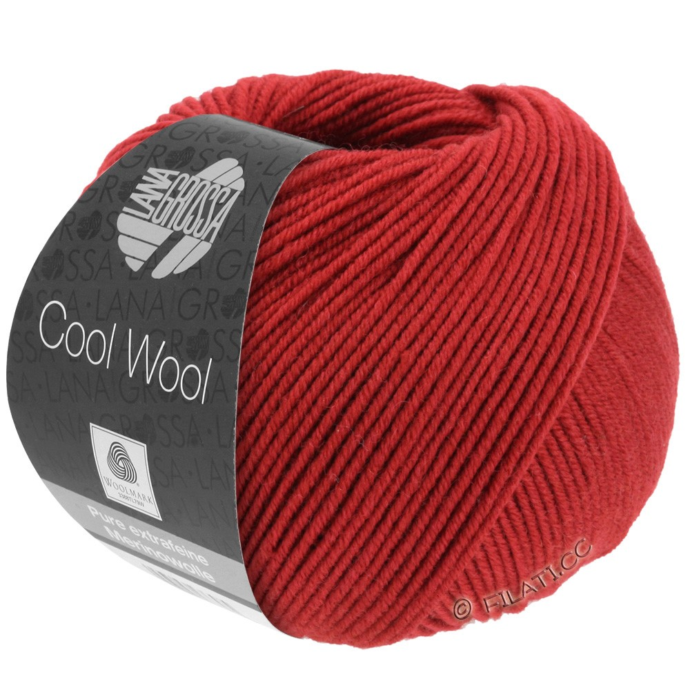 Lana Grossa COOL WOOL  Uni/Melange/Print/Degradé/Neon | 0514-dark red