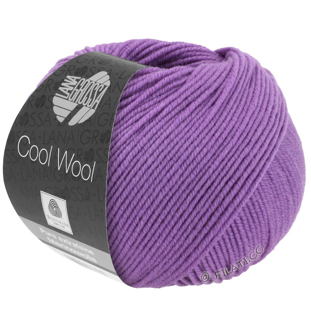 Lana Grossa COOL WOOL  Uni/Melange/Print/Degradé/Neon | 0592-dark lilac