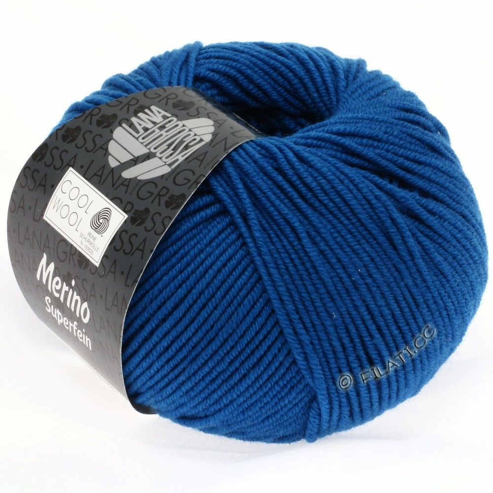Lana Grossa COOL WOOL   Uni/Melange/Neon | 0598-petrol blue