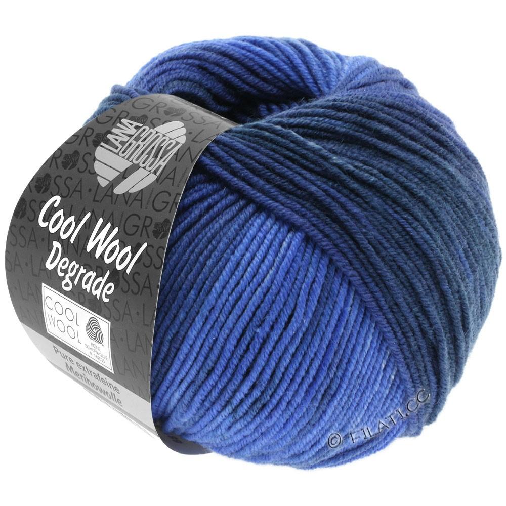 Lana Grossa COOL WOOL  Uni/Melange/Print/Degradé/Neon | 6004-navy/cornflower/jeans