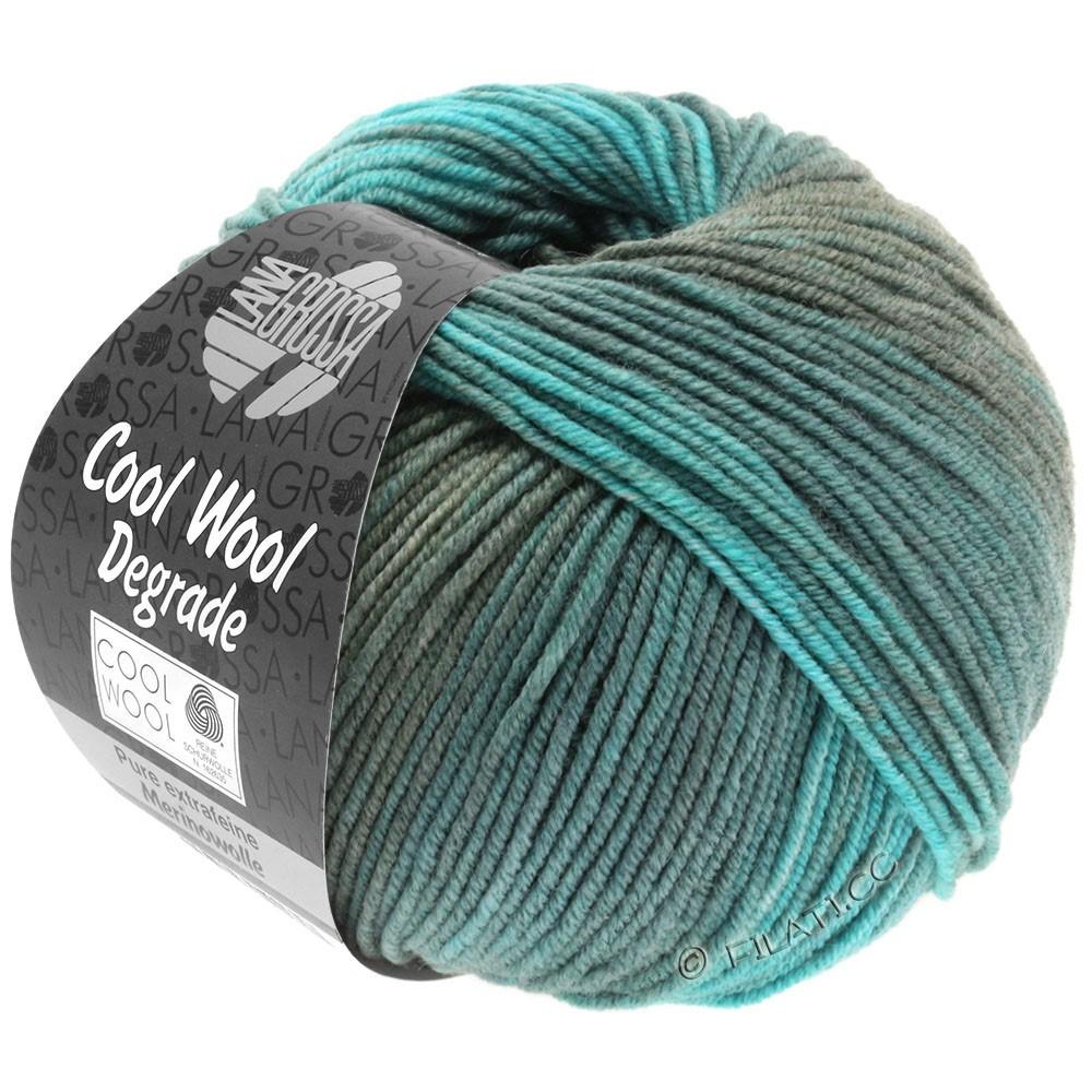 Lana Grossa COOL WOOL  Uni/Melange/Print/Degradé/Neon | 6006-turquoise/reseda green/petrol