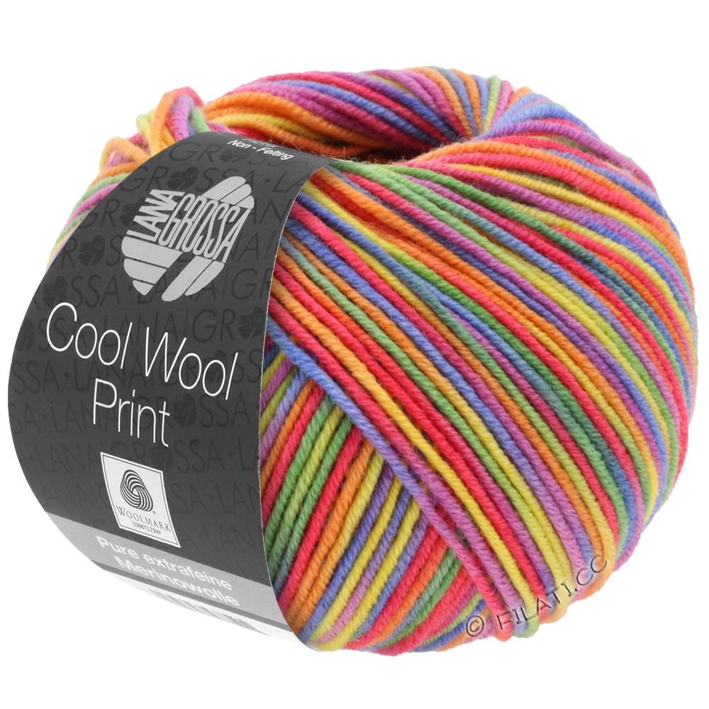 Lana Grossa COOL WOOL  Print | 703-purple/green/raspberry/orange/yellow/blue