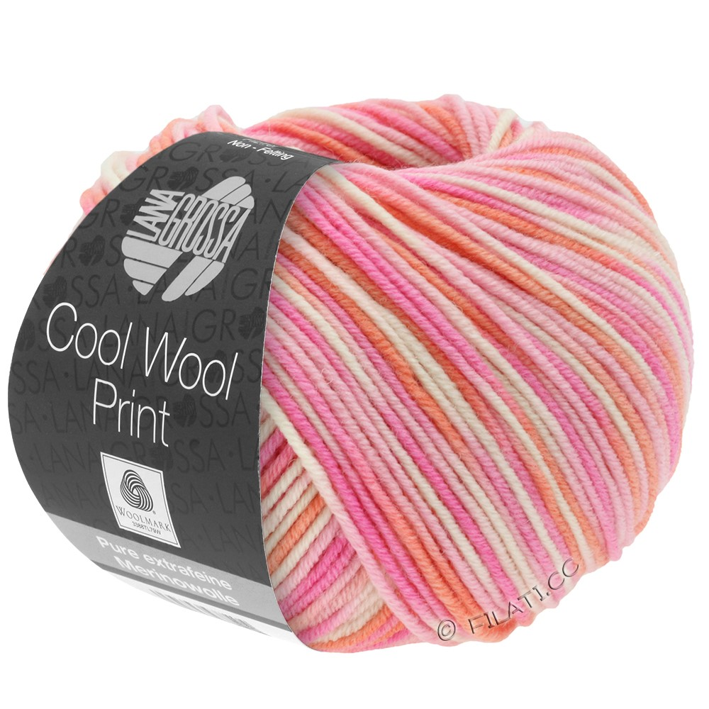 Lana Grossa COOL WOOL  Uni/Melange/Print/Degradé/Neon | 726-rose/pink/coral/natural