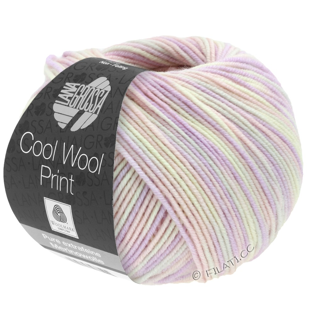 Lana Grossa COOL WOOL  Uni/Melange/Print/Degradé/Neon | 747-subtle rose/lilac/natural