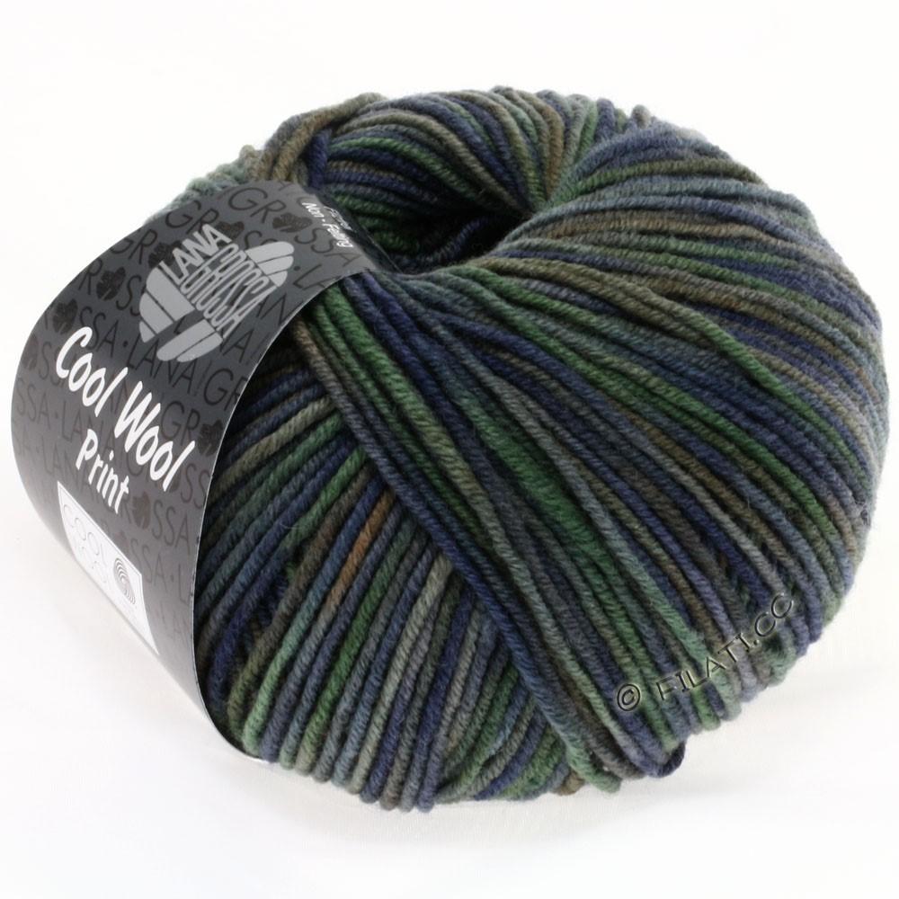 Lana Grossa COOL WOOL  Uni/Melange/Print/Degradé/Neon | 789-navy/gray green/dark gray/mud