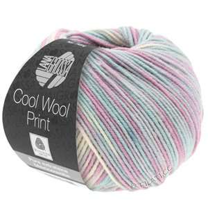 Lana Grossa COOL WOOL  Print | 792-light gray/mint/lilac/pale rose