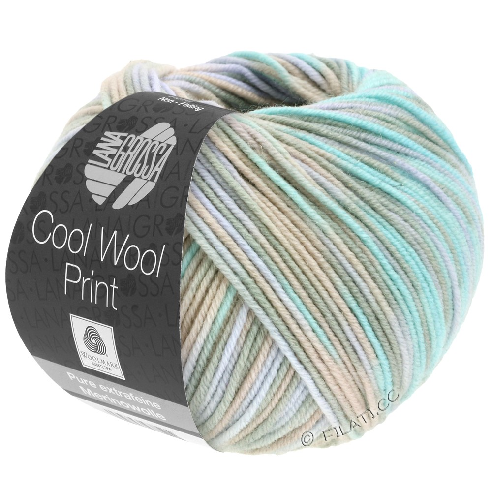 Lana Grossa COOL WOOL  Uni/Melange/Print/Degradé/Neon | 793-grège/beige/mint/pale purple