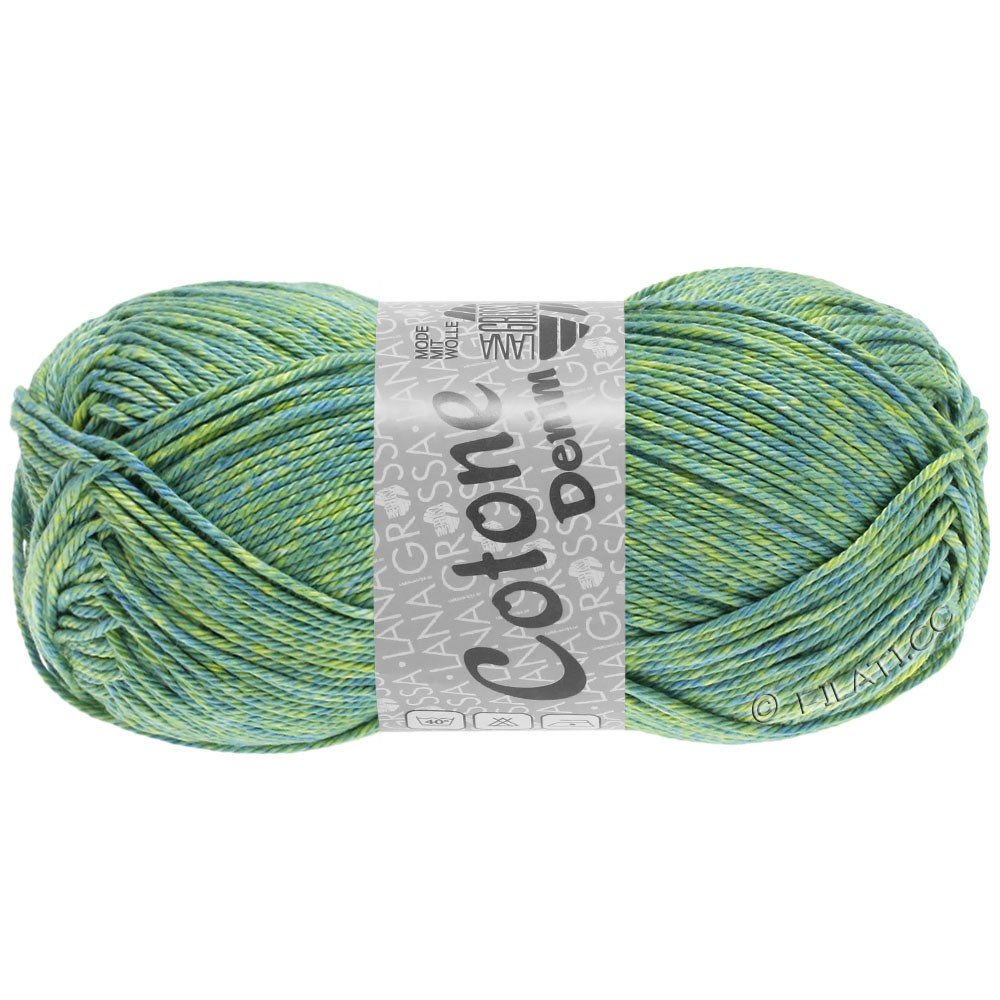 Lana Grossa COTONE  Print/Denim | 705-blue green/yellow green/linden