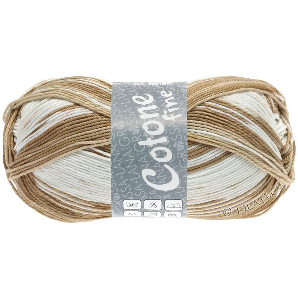 Lana Grossa COTONE FINE Print | 808-light beige/sand/nougat