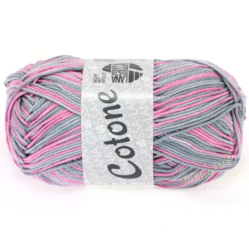 Lana Grossa COTONE Print | 310-light gray/rose/gray