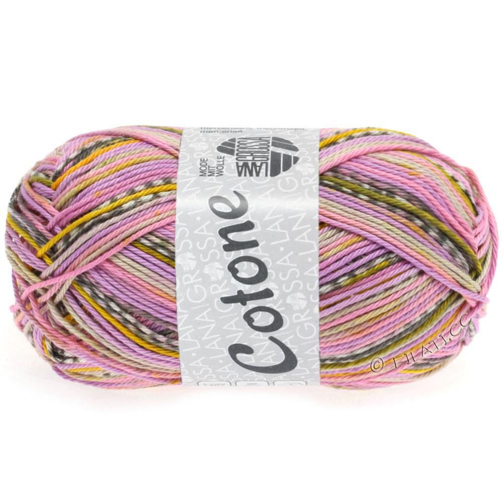 Lana Grossa COTONE Print | 506-lilac/yellow/rose/beige/mocha/white
