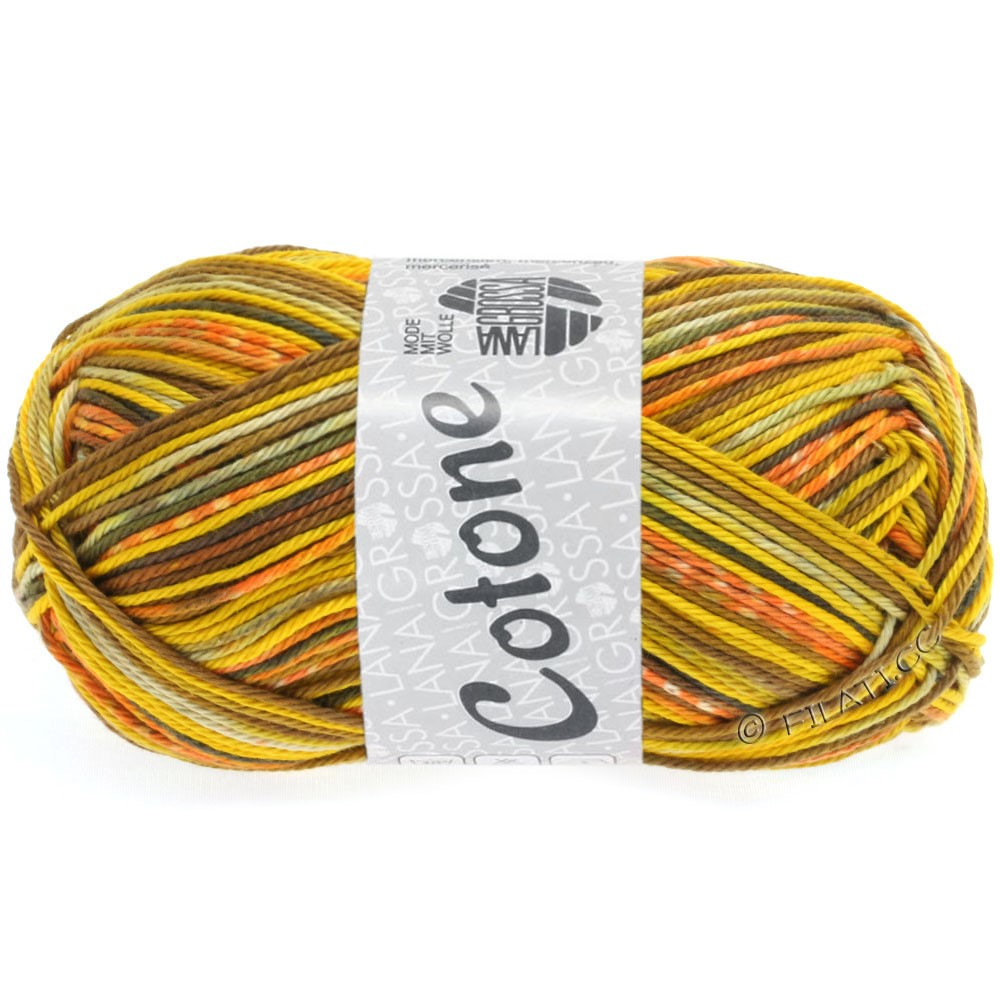 Lana Grossa COTONE Print | 507-yellow/orange/beige/white/nougat