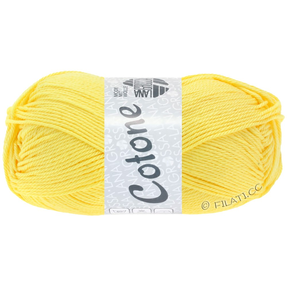 Lana Grossa COTONE Uni | 16-yellow