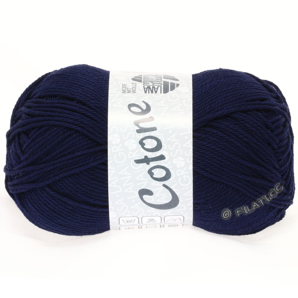 Lana Grossa COTONE Uni | 20-midnight blue