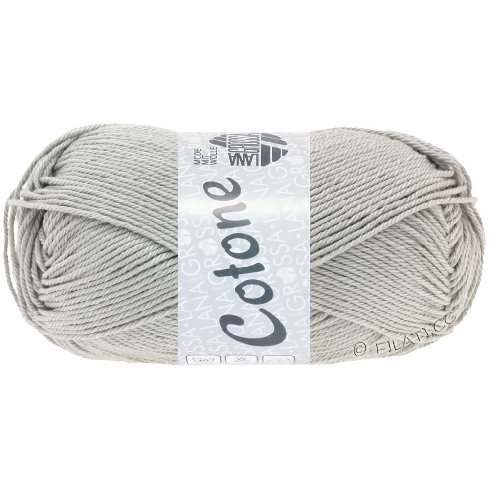 Lana Grossa COTONE Uni | 27-light gray