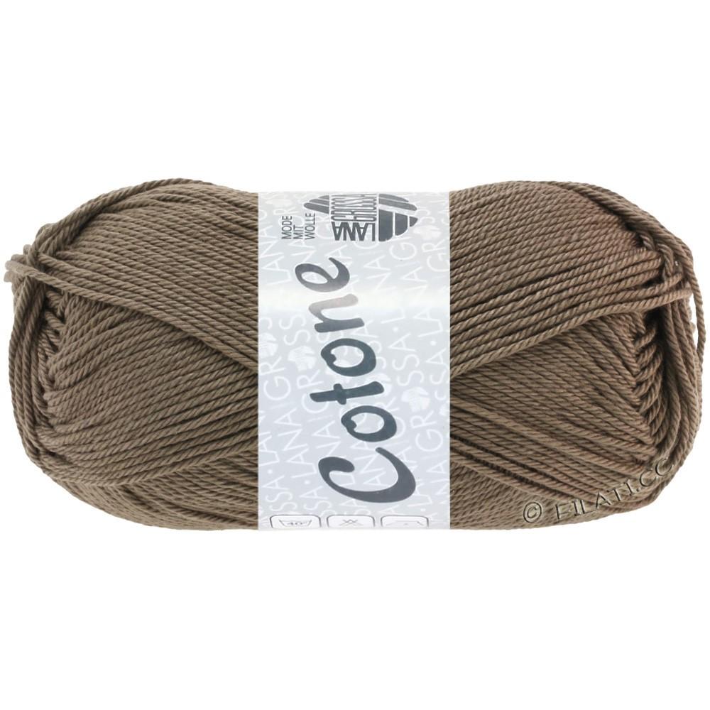 Lana Grossa COTONE Uni | 30-gray brown