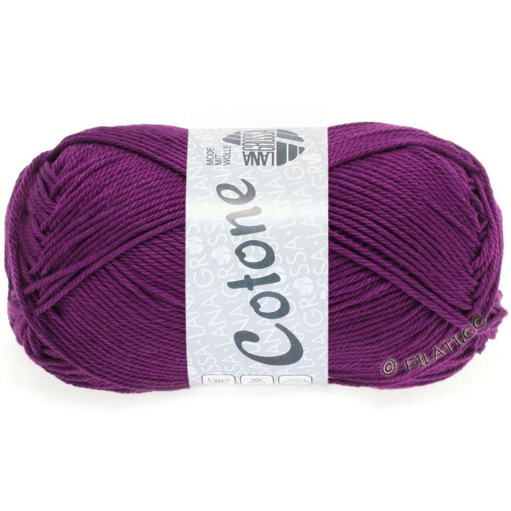 Lana Grossa COTONE Uni | 45-dark violett