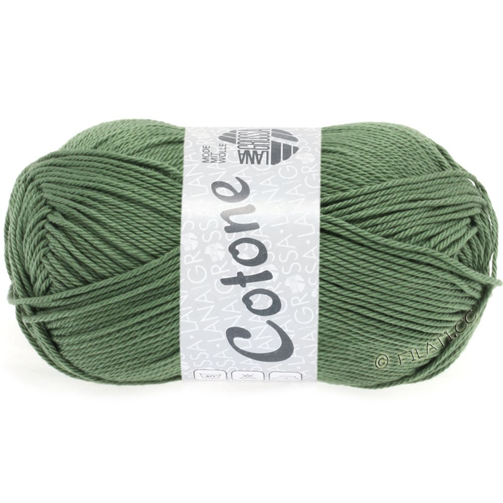 Lana Grossa COTONE Uni | 48-gray green