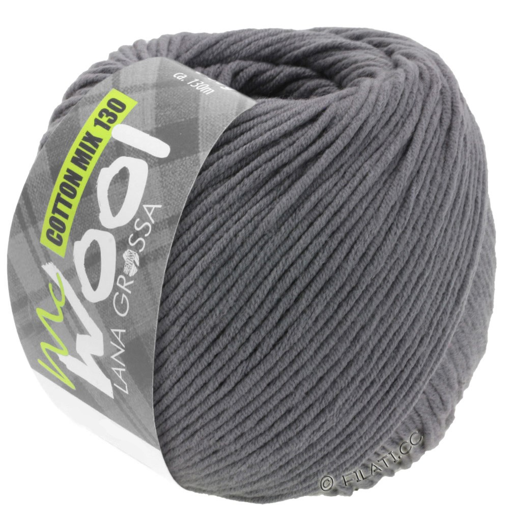 Lana Grossa COTTON MIX 130 (McWool) | 115-dark gray