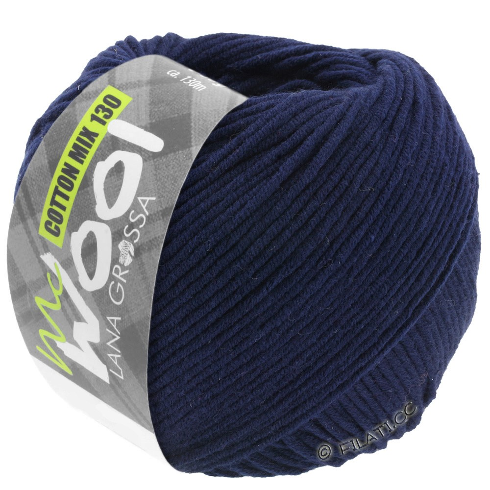 Lana Grossa COTTON MIX 130 (McWool) | 117-night blue