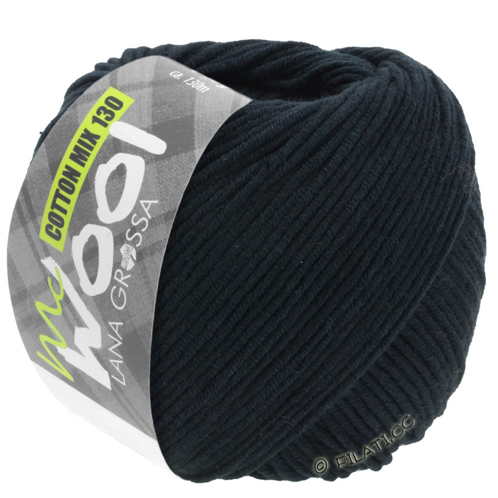 Lana Grossa COTTON MIX 130 (McWool) | 118-black