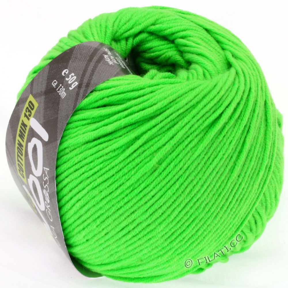 Lana Grossa COTTON MIX 130 (McWool) | 120-neon green