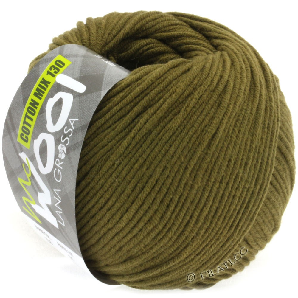 Lana Grossa COTTON MIX 130 (McWool) | 128-olive