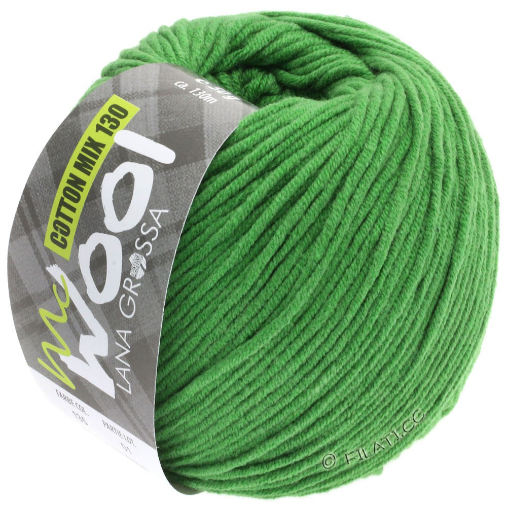 Lana Grossa COTTON MIX 130 (McWool) | 135-grass green