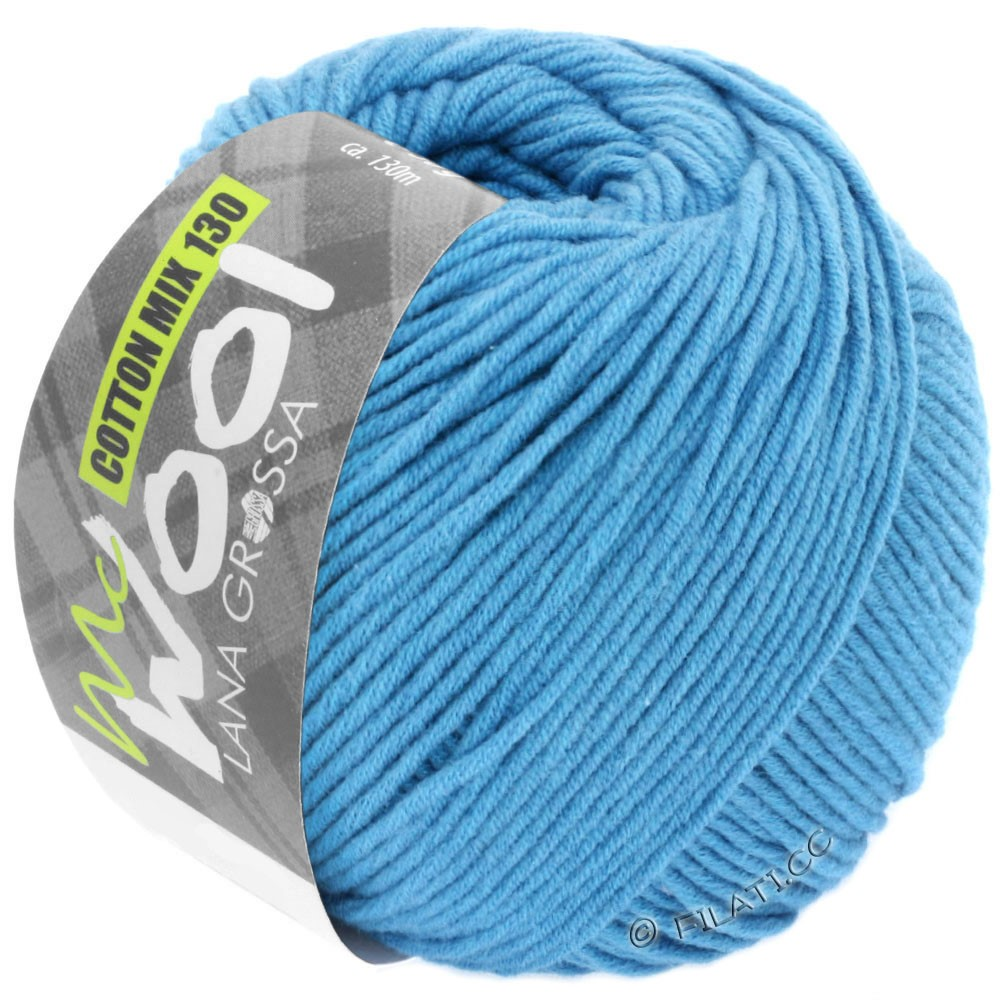 Lana Grossa COTTON MIX 130 (McWool) | 137-sky blue