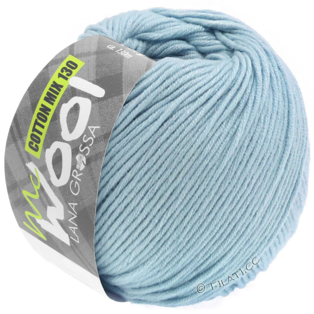 Lana Grossa COTTON MIX 130 (McWool) | 150-light blue