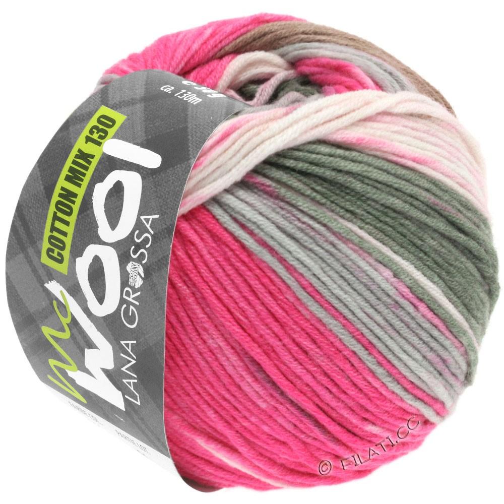Lana Grossa COTTON MIX 130 Print (McWool) | 303-pink/rose/gray/light gray/white
