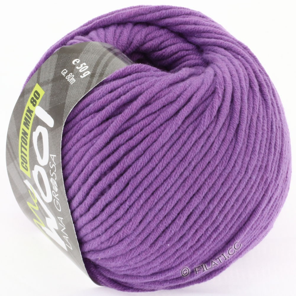 Lana Grossa COTTON MIX 80 (McWool) | 504-violet