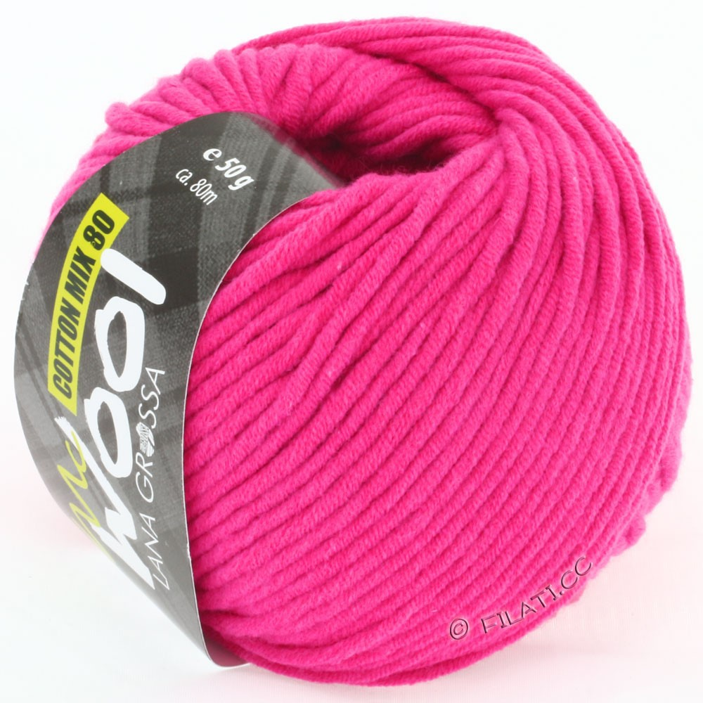 Lana Grossa COTTON MIX 80 (McWool) | 505-pink