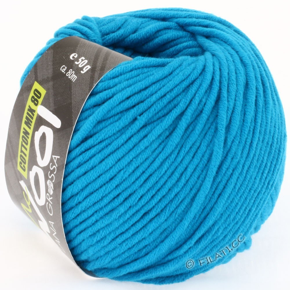 Lana Grossa COTTON MIX 80 (McWool) | 506-turquoise blue