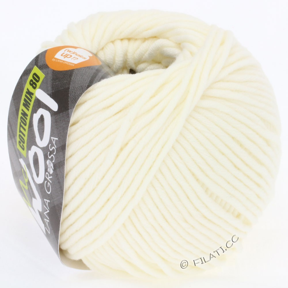 Lana Grossa COTTON MIX 80 (McWool) | 509-raw white